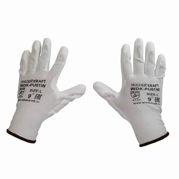 Перчатки защитные WDK-PU01W/L