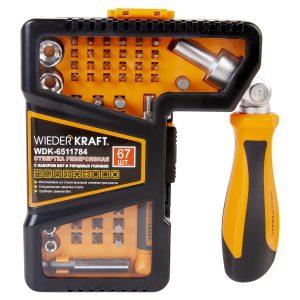 Отвертка с набором бит и торцевых головок WDK-6511784