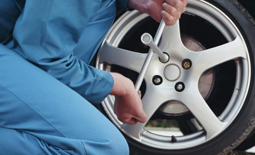 Смена колеса